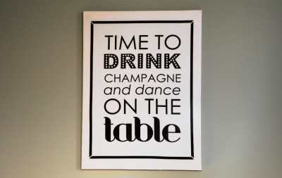 Time to drink poster